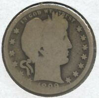 1899-O Barber Quarter Silver - New Orleans Mint - BD278