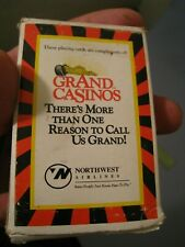 Vintage Deck of GrAnd Casinos Northwest Airlines Playing Cards