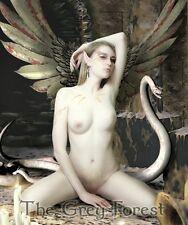 Labyrinth Evil dungeon elf tribal Fairy gothic snake girl Fantasy Art 8x10 print