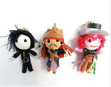 3 Johnny Depp Voodoo String Doll, Jack Sparrow, Edward Scissor hands, Mad Hatter