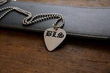 Hand Made Etched Nickel Silver Guitar Pick Necklace - Black Label Society - Zakk