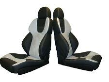 2 orthopäd. Recaro Style Klimapaket Leder Alcantara neu bezogen Passat Golf Sitz