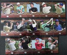 2001 NATIONAL HEROES Upper Deck Golf 14-Card Set _ Stored smoke-free