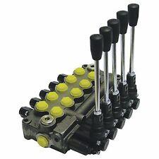 Prince Wolverine 5 Spool Hydraulic Valve Mb51bbbbb5c1 8gpm 3500 Psi 8 Sae Ports