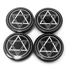 4x 59mm/46mm Hexagonal Star Style Wheel Center Caps for Impala Solstice 9594156