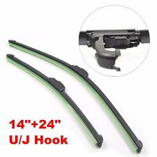 "All Season Combo 14""+24"" U/J Hook Bracketless Windshield Wiper Blades"
