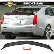 Fits 16-19 Cadillac Ats-V 4Dr Sedan V Style Trunk Spoiler - Carbon Fiber Cf
