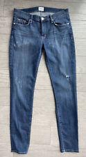 Hudson Jeans Krista Ankle Super Skinny Size 29 Distressed Medium Wash