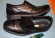 Clarks Mens Quid Felix BLACK Leather Slip On Dress Loafers Shoes Size 10 M