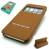BUCKSKIN Leather HOCO SMART SERIES  Wallet Book case APPLE iPHONE 6 6S - BROWN