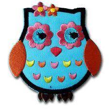 Owl Patch Iron on Bird Animal Wildlife Embroidered Applique Biker Kid Pretty Sew