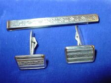 Vintage 800 silver cufflinks and tie bar hand-made in Germany