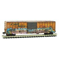 Railbox 50' Ribside Car ET Abduction Day Weathered/Graffiti MTL 02545010 N Scale