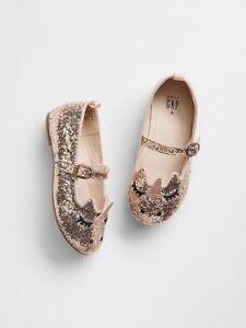 BABY GAP  GOLD SPARKLE Unicorn Sparkle Ballet Flats Size: 7
