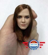 "1/6 Emma Watson Head Sculpt Straight Hair Harry Potter Hermione For 12"" PHICEN"
