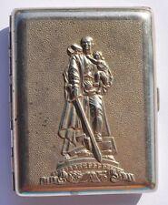 1950s USSR Soviet Russia ALJOSHA WWII HERO WARRIOR Scarce Cigarette Case