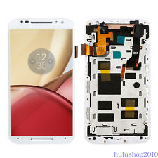 White LCD Touch Screen Digitizer Frame Glass Fr Motorola X2 XT1092 XT1095 Repair