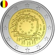 2 Euro commemorative BELGIQUE - BELGIEN - 30th Anniv Drapeau Flag