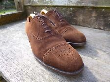 EDWARD GREEN VINTAGE BROGUES – BROWN SUEDE – UK 12 – EXCELLENT CONDITION