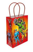 6 Super Hero Paper Handle Bags - Toy Loot/Party Bag Fillers Childrens/Kids