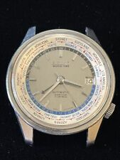 Vintage Seiko World Time 1964 Asian Games Automatic Wristwatch 6217-7000 Running