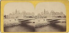 Paris France Photo Stéréo Stereoview Vintage albumine ca 1865