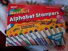 Vintage RoseArt Washable Alphabet Mini Stampers Marker Set Of 26 Rare