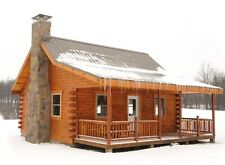 Build a Log Cabin Barn Shed 13,000+ Plans Garage Shelter on DVD CD Wood Working