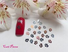 50pc Nail Art Sliver Rose Gold Halloween SpooKy Ghosts Thin Metal Spangles HW4