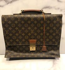 Vintage Louis Vuitton LV Brown Monogram Logo Attache Briefcase Bag