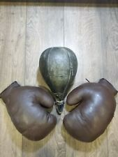 Boxing gloves . Punching bag.Vintage.Soviet SPORT.