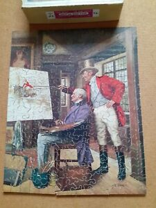 Vintage Wooden Chad Valley Jigsaw Puzzle - Expert Criticism- about 200 Pieces