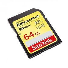 SANDISK 64GB SD Extreme PLUS SDXC UHS-I CLASS 10 MEMORY CARD SDSDXSF-064G-GNCIN