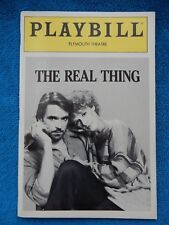 The Real Thing - Plymouth Theatre Playbill w/Ticket - January 23rd, 1984 - Irons
