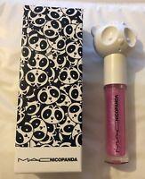 "MAC ~NICOPANDA "" PANDA KISS "" LIPGLASS Limited ED. Brand new in Box!! HTF"