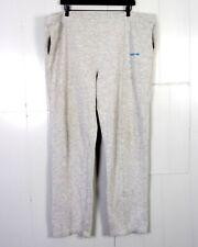 vtg 80s Adidas Heather Gray Sweatpants Drawstring Blue Trefoil Spellout Logo Xxl