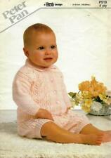 """PP519 BABIES 4ply LACY CARDIGAN & KNEE PANTS KNITTING PATTERN 16-20""""/41-51cm"""