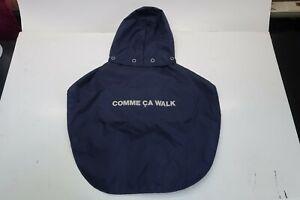 Comme Ca Walk Navy Blue Small Pet Dog/Cat Windbreaker w/ Drawstring Hoodie