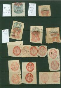 Jamaica Embossed Revenues 1899 Onwards