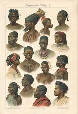 African peoples II Neck Jewellery Masaii Bantu indigenous Profile Zulu Super 016