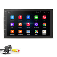 """Android 9.0 7""""2DIN In Dash Car Stereo Radio Player GPS Navigation WiFi+LED Cam"""