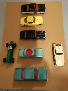 x 7 Dinky  & CORGI Toys Mixed Cars Collection Joblot all with tyres nice lot