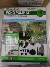 Beckett Corporation Pond Pump Kit with Prefilter and Nozzles, 680 GPH