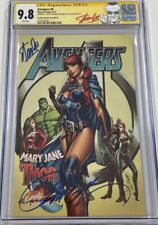 Marvel Avengers #8 Cover B Mary Jane Thor Signed Stan Lee & Campbell CGC 9.8 SS