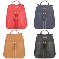 Women's Portobello W11 Mimi Saffiano Textured Leather Mini Backpack Bag RRP £99