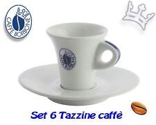 SET 6 TAZZINE CAFFE' CON PIATTINO IN PORCELLANA BORBONE