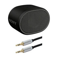 Sony XB01 Extra Bass Portable Bluetooth Speaker (Black) with Accessory Bundle