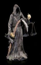 Reaper Figur mit Sense und Waage - Final Check - Gothic Sensenmann Deko Geschenk