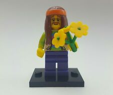lego mini figures rare hippy with flowers