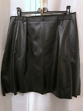 Gonna nera in ecopelle fatta a mano handmade black faux leather skirt IT42